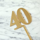 Classic Number Cake Topper 40