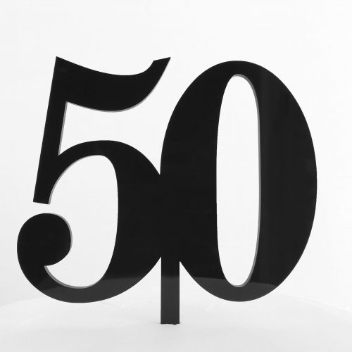 Classic Number 50 Cake Topper in Black