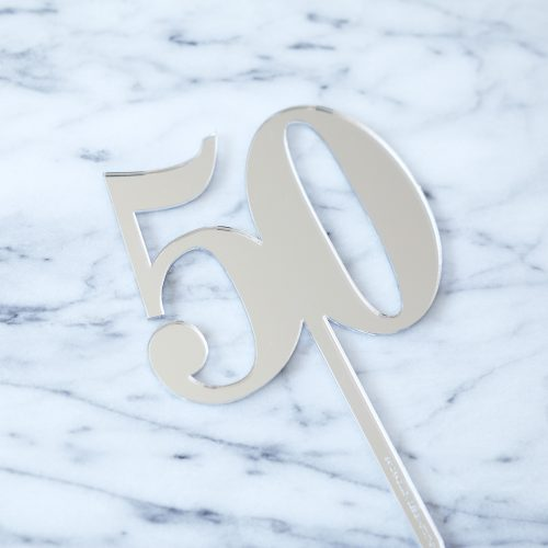 Classic Number Cake Topper 50