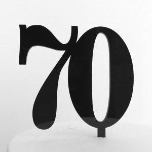 Classic Number 70 Cake Topper in Black