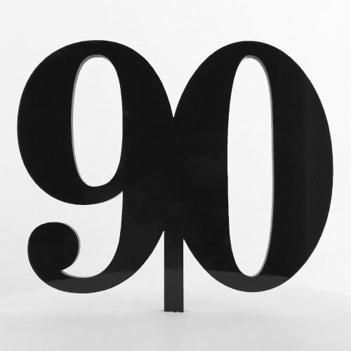 Classic Number 90 Cake Topper in Black