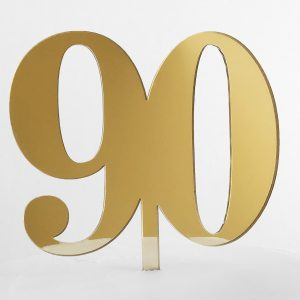 Classic Number 90 Cake Topper