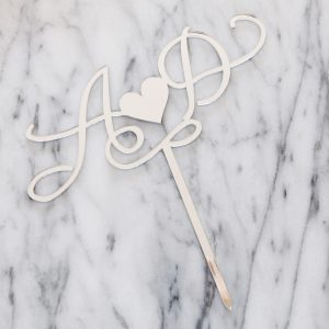 Customised Double Initial Cake Topper