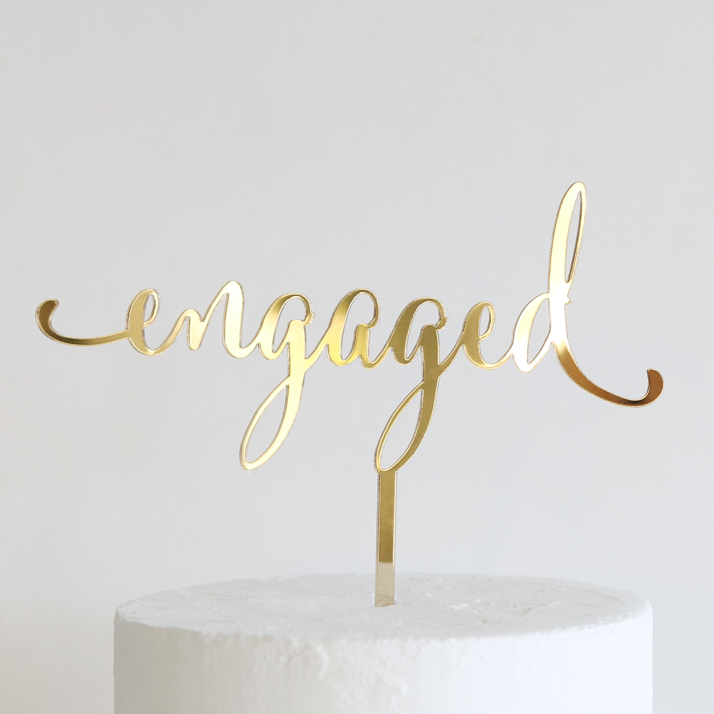 Clear Acrylic Cake Topper