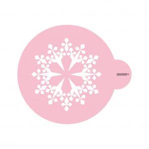 Frosty Snowflake Cookie Stencil