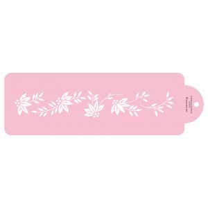 Small Floral Cake Side Stencil