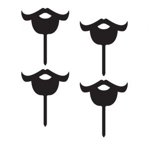 Bearded Moustache Cupcake Topper