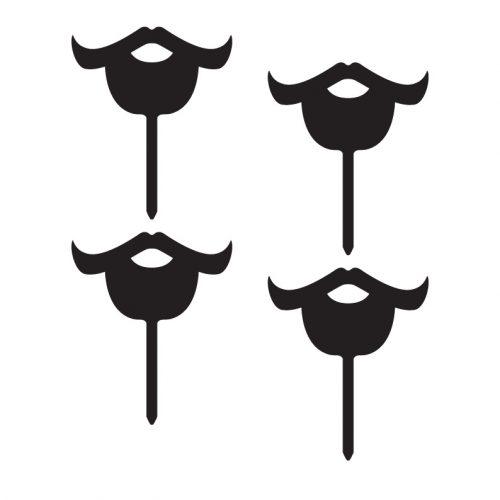 Bearded Moustache Cupcake Topper
