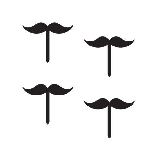 Classic Moustache Cupcake Topper