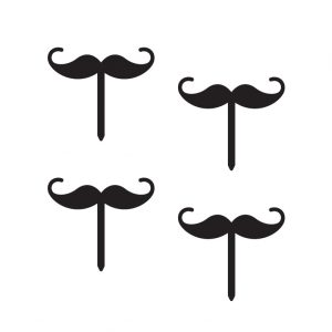 Curly Moustache Cupcake Topper