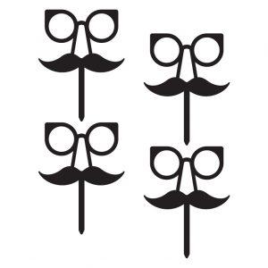 Professor Moustache Cupcake Topper