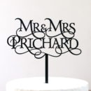 Custom Magical Mr and Mrs Cake Topper