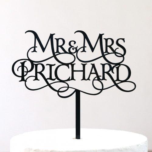 Custom Magical Mr and Mrs Cake Topper