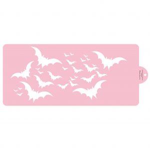Flying Bats Cake Side Stencil