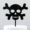 Skull and Crossbones Cake Topper