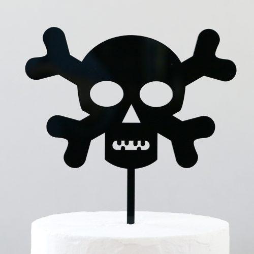 Skull and Crossbones Cake Topper