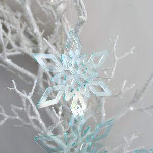 Deep Ice Christmas Star Ornament Trio Medium