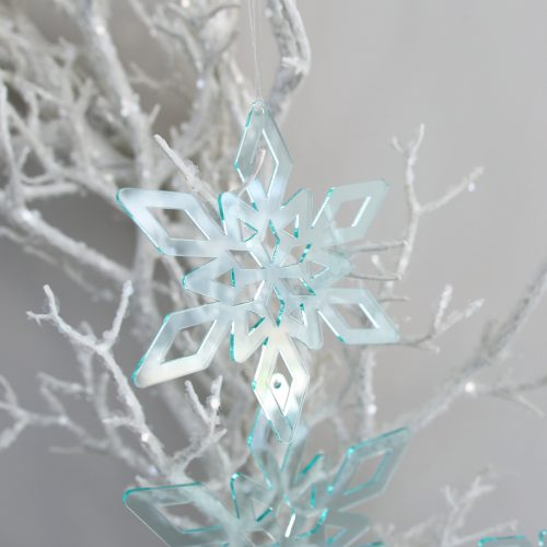 Deep Ice Christmas Star Ornament Trio Medium