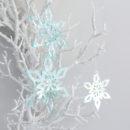 Deep Ice Christmas Star Ornament Trio