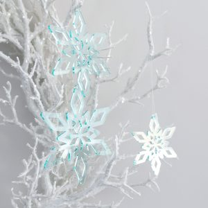 Deep Ice Christmas Star Ornament Trio