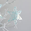Deep Ice Christmas Star Ornament Trio Small