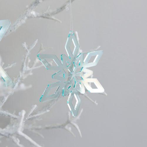Deep Ice Christmas Star Ornament Trio Small