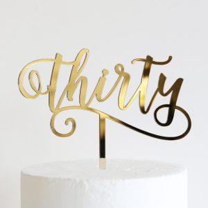 Flirty Thirty Cake Topper
