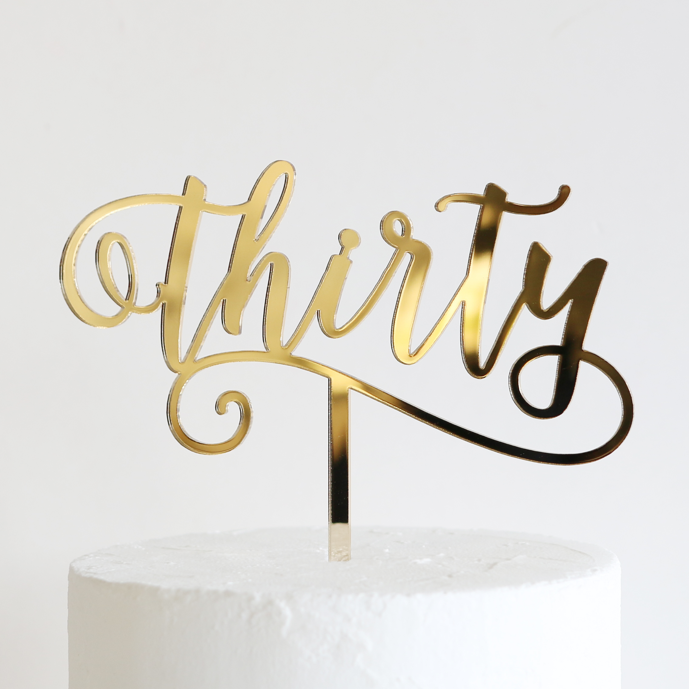 Thirty Cake Topper Gold
