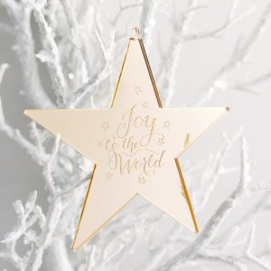 Small Joy to the World Star Ornament