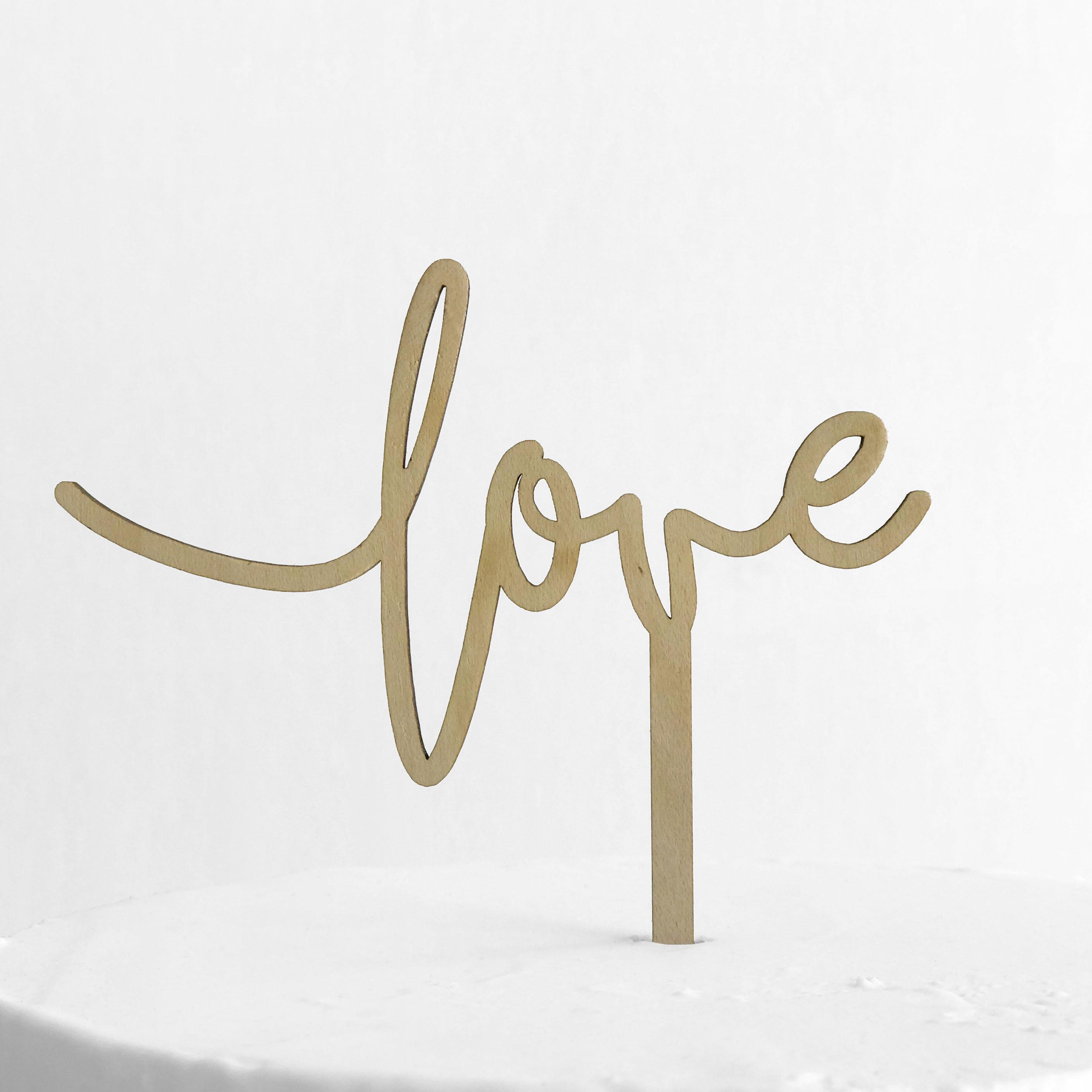 Small Love Cake Topper Sandra Dillon Design