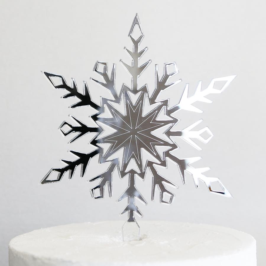 Snowflake Cake Topper | SANDRA DILLON DESIGN