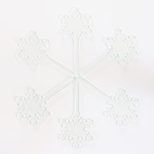 Snowflake Cupcake Topper Set