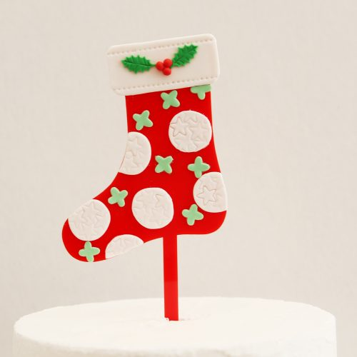 Decorated Stocking DIY Cake Topper