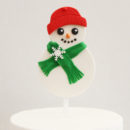 Decorated Snowman DIY Cake Topper