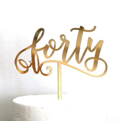 Fun Forty Cake Topper