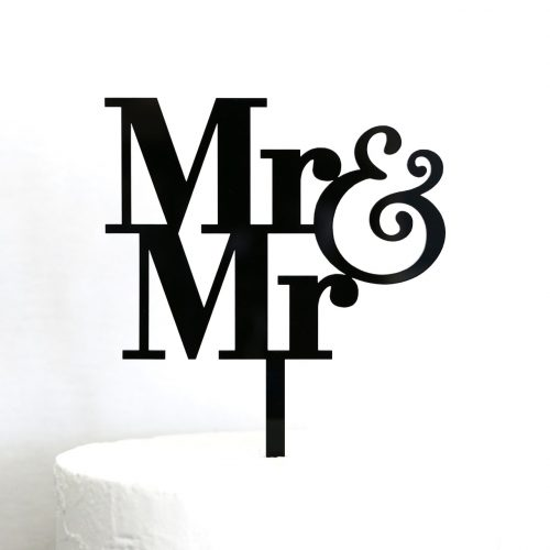 Simple Mr and Mr Cake Topper