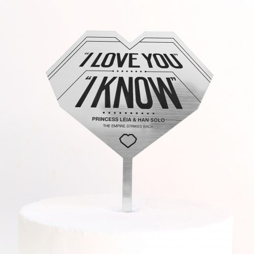 I Love You I Know Cake Topper