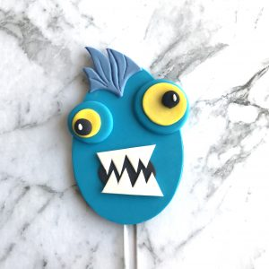 Egg DIY Cake Topper Monster