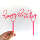 Floating Happy Birthday Cake Topper