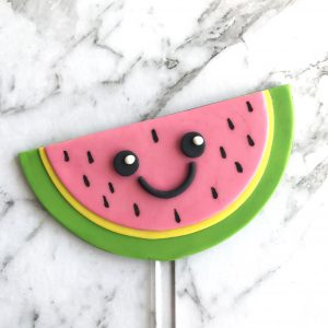 Half Circle Wedge DIY Cake Topper Watermelon