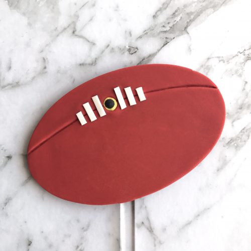 Oval DIY Cake Topper Football