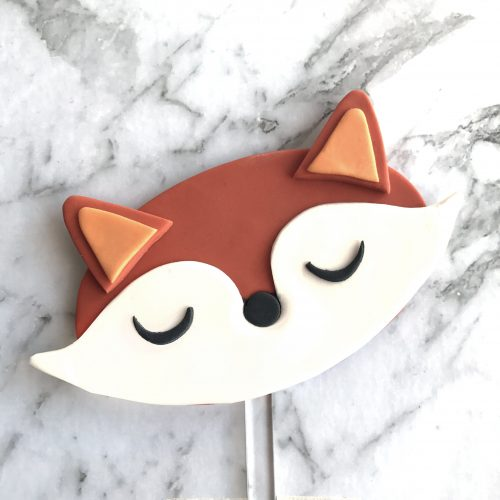 Oval DIY Cake Topper Fox