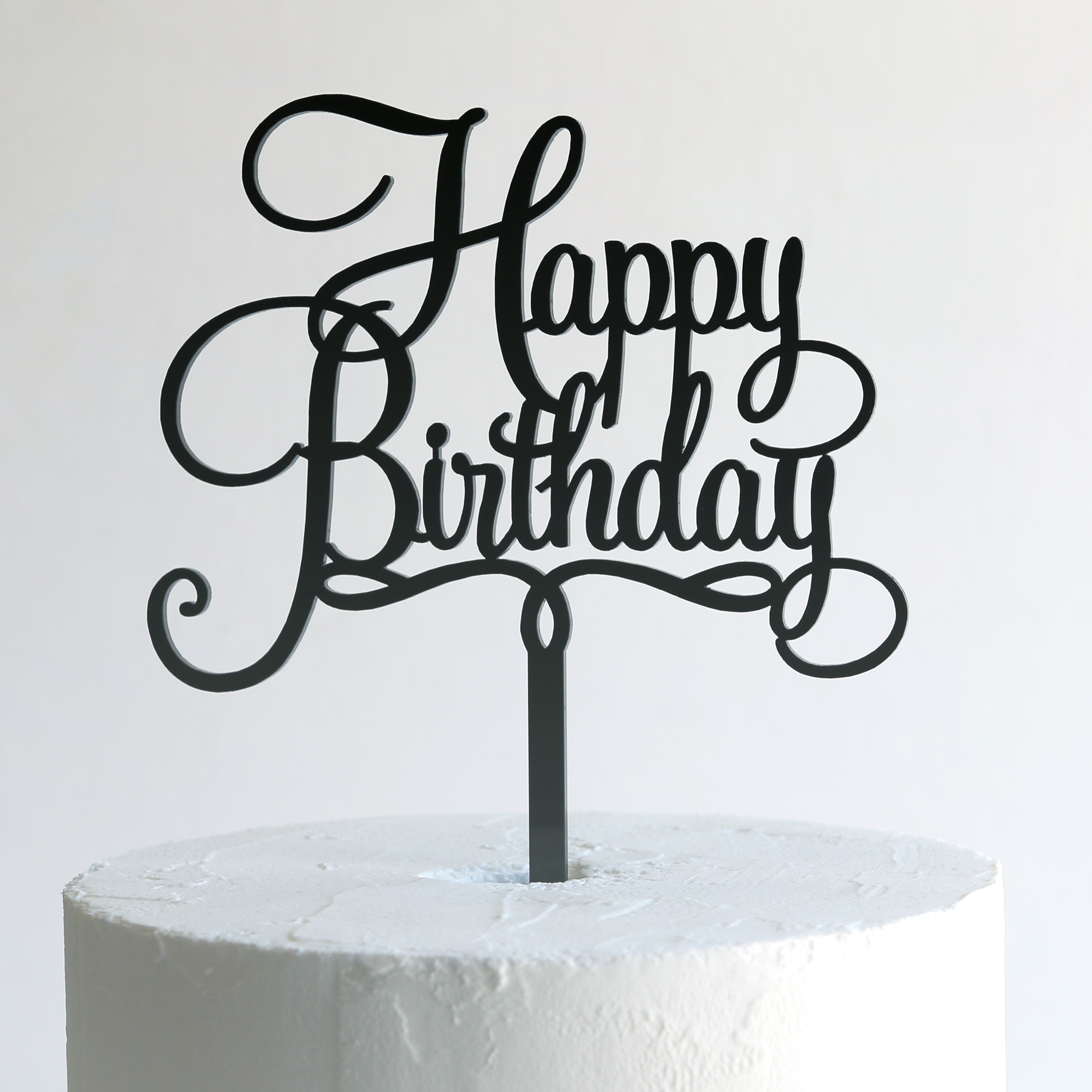 Happy Birthday Sign Cake Toppers