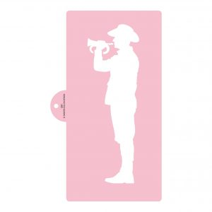 Australian Soldier with Bugle Cake Stencil