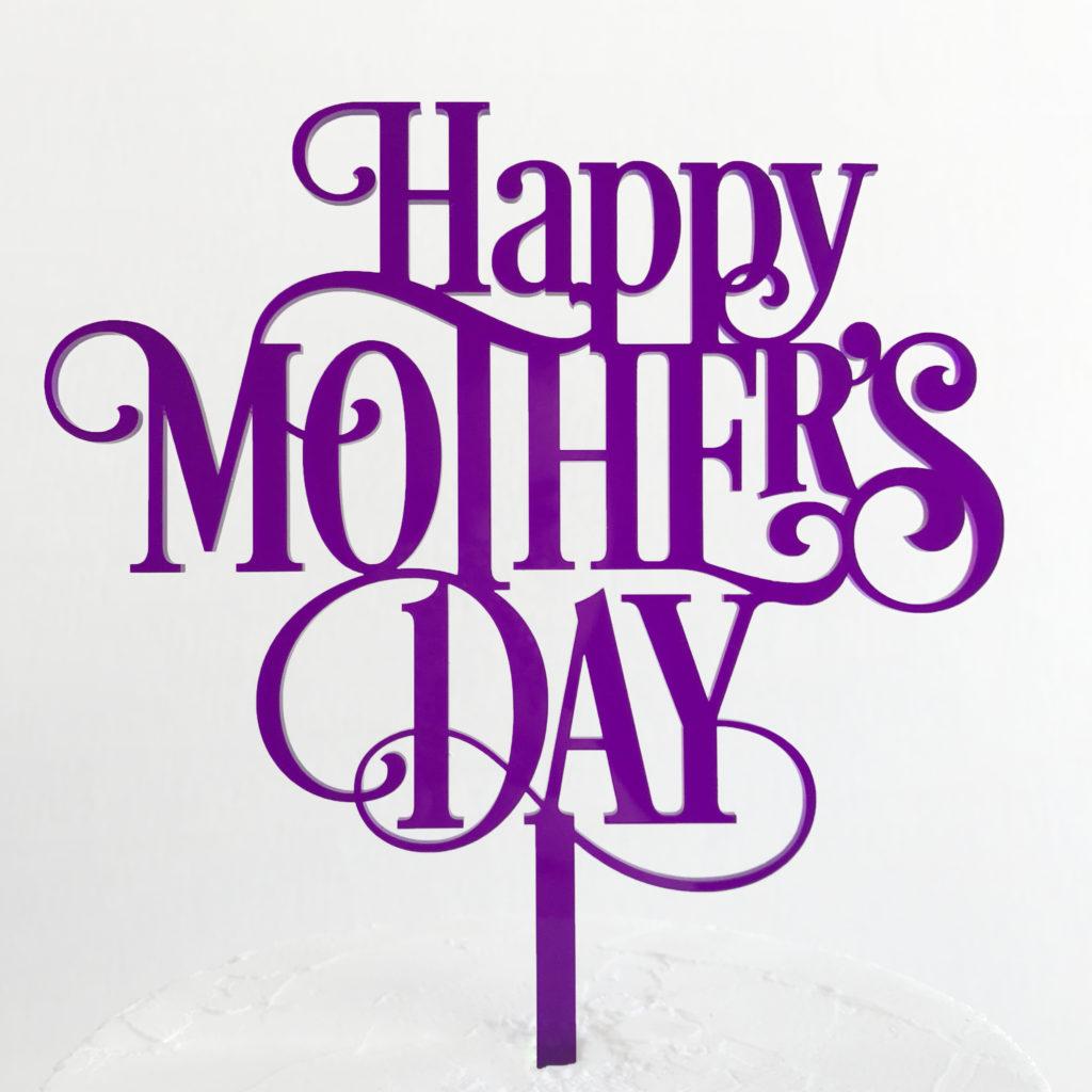 Classic Happy Mother's Day Cake Topper | SANDRA DILLON DESIGN