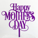 Classic Happy Mother's Day Cake Topper