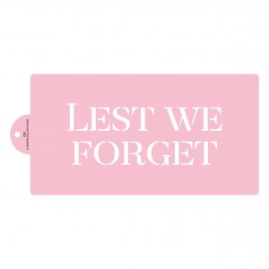 Lest We Forget Stacked Cake Stencil