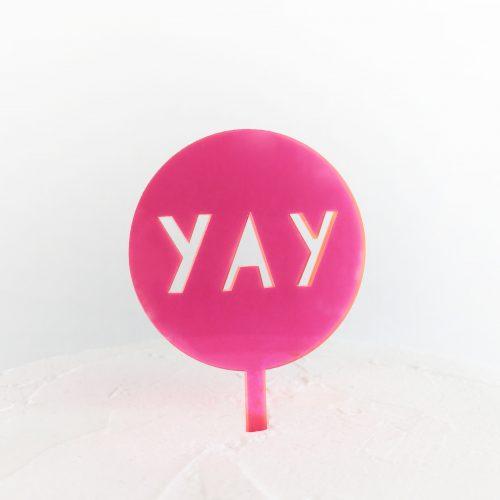 Lollipop Yay Cake Topper
