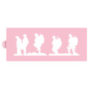 Marching Soldiers Cake Side Stencil