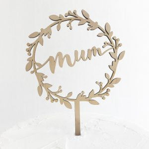 Mum Wreath Cake Topper